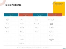 Target Audience Nationality Ppt Powerpoint Presentation Slides Background