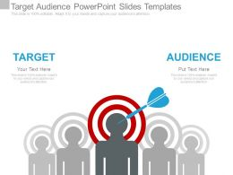 Target Audience Powerpoint Slides Templates