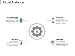 Target Audience Ppt Powerpoint Presentation Ideas Graphic Images Cpb