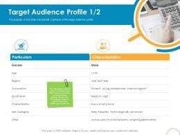 Target Audience Profile Adapters Rebrand Ppt Powerpoint Presentation Professional Guidelines
