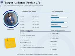 Target Audience Profile Routine Rebranding Approach Ppt Portrait