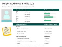 Target Audience Profile Smart Phones Ppt Powerpoint Presentation Pictures Designs