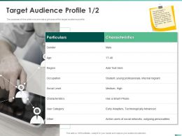 Target Audience Profile Young Professionals Ppt Powerpoint Presentation Gallery Introduction