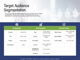 Target Audience Segmentation Pre Seed Capital Ppt Background