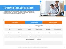 Target Audience Segmentation Raise Funding From Pre Seed Round Ppt Sample
