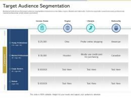 Target Audience Segmentation Reshaping Product Marketing Campaign Ppt Icon Slides