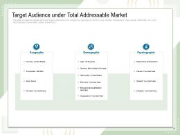 Target Audience Under Total Addressable Market Area N60 Ppt Powerpoint Presentation Slide Portrait