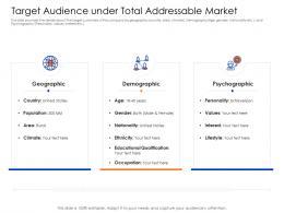 Target Audience Under Total Addressable Market Mezzanine Capital Funding Pitch Deck Ppt Show