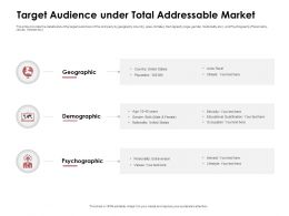 Target Audience Under Total Addressable Market Population Ppt Powerpoint Presentation Icon Elements