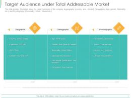 Target Audience Under Total Addressable Market Ppt Powerpoint Presentation Icon Pictures
