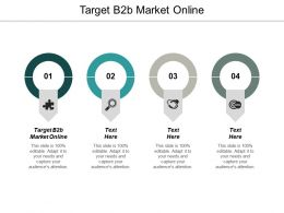 Target B2b Market Online Ppt Powerpoint Presentation Infographic Template Portrait Cpb