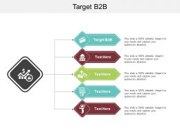 Target B2B Ppt Powerpoint Presentation Infographic Template Demonstration Cpb