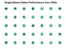 Target Based Sales Performance Icon Slide Technology Ppt Powerpoint Presentation Topics