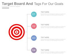 Target Board And Tags For Our Goals Powerpoint Slides