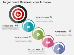 Target Board Business Icons In Series Flat Powerpoint Design