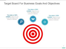 Target Board For Business Goals And Objectives Ppt Layout