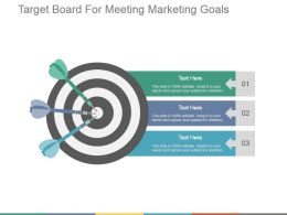 Target Board For Meeting Marketing Goals Presentation Deck