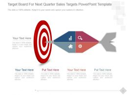 Target Board For Next Quarter Sales Targets Powerpoint Template