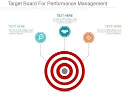 Target Board For Performance Management Ppt Sample File