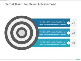 Target Board For Sales Achievement Powerpoint Template Diagram
