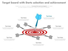 Target Board For Selection And Achievement Powerpoint Slides