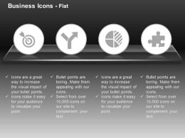 target_board_process_flow_pie_graph_puzzle_ppt_icons_graphics_Slide01