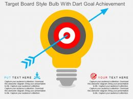 Target Board Style Bulb With Dart Goal Achievement Flat Powerpoint Desgin