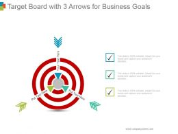 Target Board With 3 Arrows For Business Goals Ppt Infographics