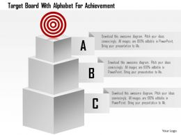 Target Board With Alphabet For Achievement Powerpoint Template
