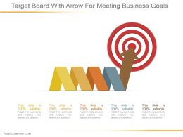 Target Board With Arrow For Meeting Business Goals Ppt Slide