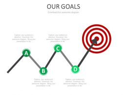 Target Board With Arrow For Sales Goal Powerpoint Slides