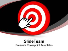 Target Board With Hand Pointing Success Powerpoint Templates Ppt Themes And Graphics 0213
