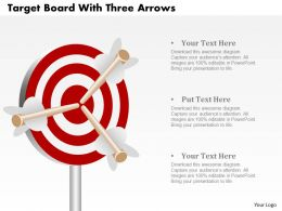 Target Board With Three Arrows Powerpoint Template