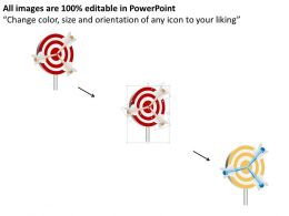 target_board_with_three_arrows_powerpoint_template_Slide02
