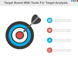 Target Board With Tools For Target Analysis Powerpoint Slides