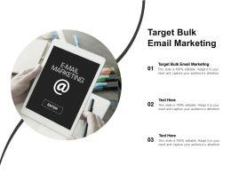 Target Bulk Email Marketing Ppt Powerpoint Presentation Portfolio Example File Cpb