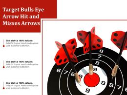 Target Bulls Eye Arrow Hit And Misses Arrows