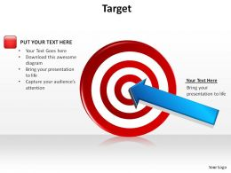 target bullseye with arrow dart in center slides presentation diagrams templates powerpoint info graphics
