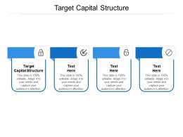 Target Capital Structure Ppt Powerpoint Presentation File Gridlines Cpb