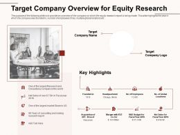 Target Company Overview For Equity Research Largest Ppt Powerpoint Presentation Model Example Introduction