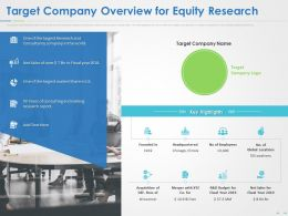 Target Company Overview For Equity Research Ppt Powerpoint Presentation Summary Slide