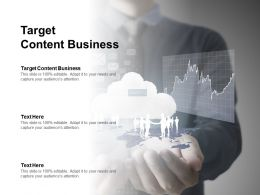 Target Content Business Ppt Powerpoint Presentation Show Brochure Cpb