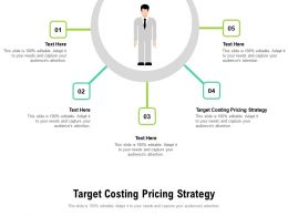 Target Costing Pricing Strategy Ppt Powerpoint Presentation Styles Shapes Cpb