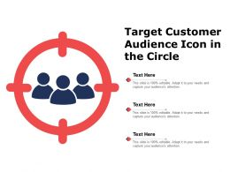 Target Customer Audience Icon In The Circle