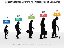 Target Customer Defining Age Categories Of Consumer