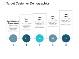 Target Customer Demographics Ppt Powerpoint Presentation Icon Demonstration Cpb