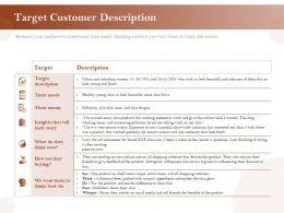 Target Customer Description Ppt Powerpoint Presentation Ideas Gallery