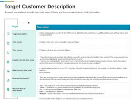 Target Customer Description Ppt Powerpoint Presentation Infographics Files