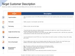 Target Customer Description Ppt Powerpoint Presentation Pictures