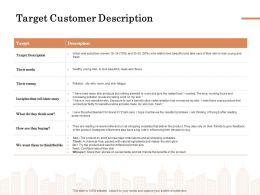 Target Customer Description Ppt Powerpoint Presentation Slides Graphics Download